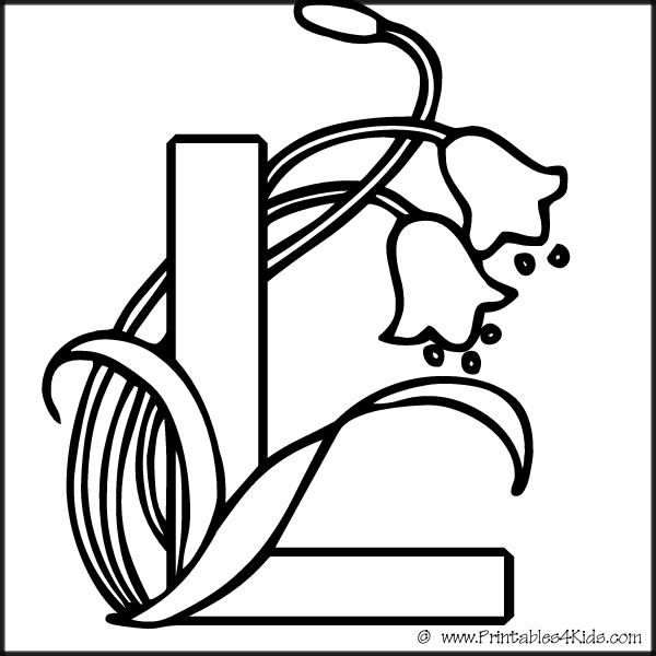 5 best images of l coloring pages letter printables