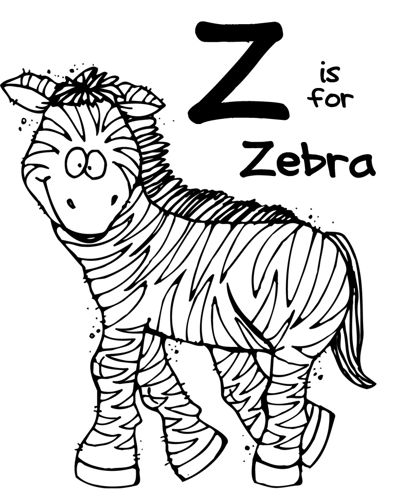 6 Images of Z Is For Zebra Printables