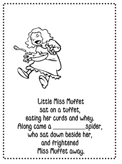 4 Images of Little Miss Muffet Printable