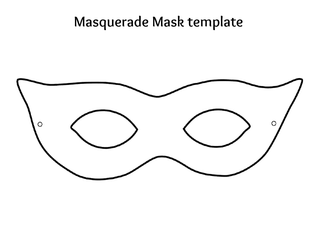 5 Images of Masquerade Masks Templates Printables