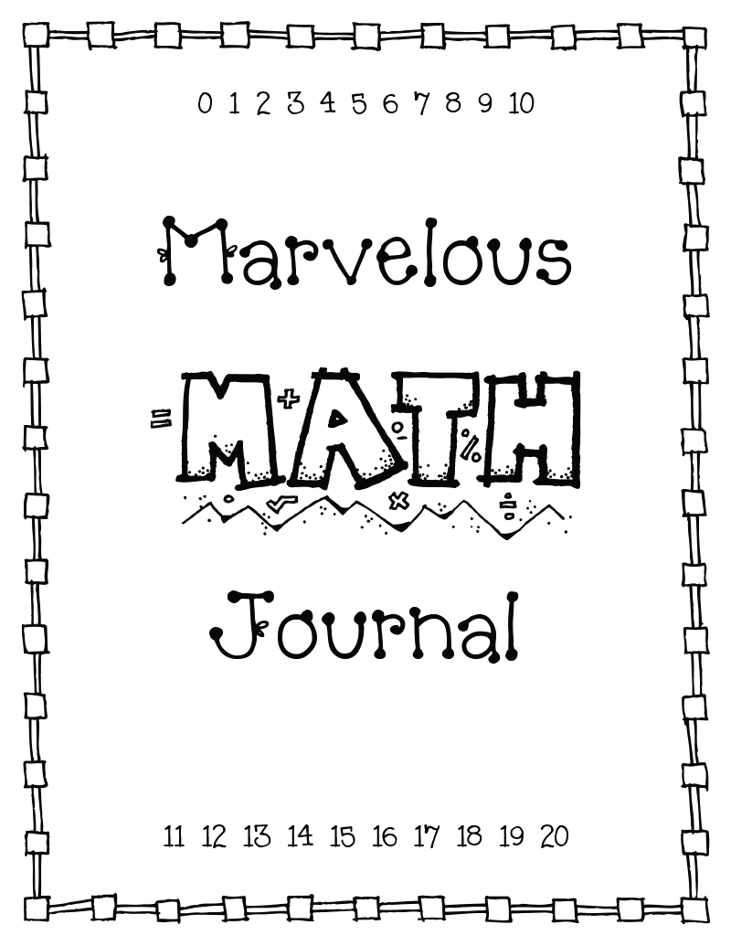 Math Journal Cover Printable
