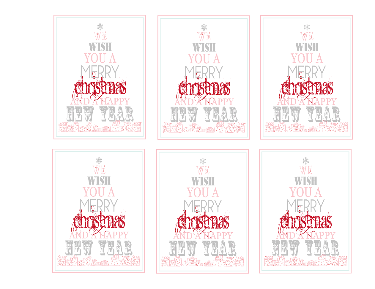 6 Images of Merry Christmas Tags Printable