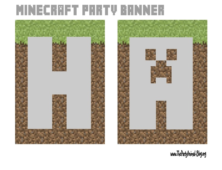 Minecraft Happy Birthday Sign