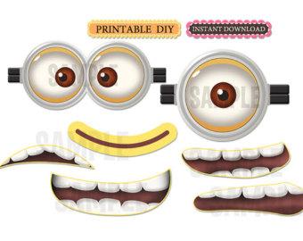 6 best images of printable minion mouths free printable minion