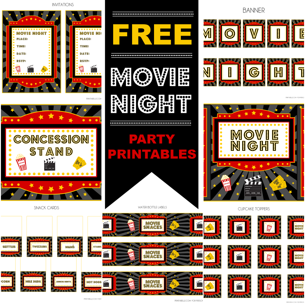 Movie Party Free Printables