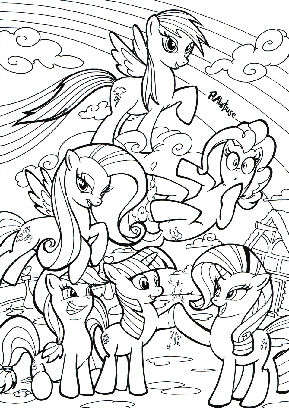 6 Images of Printable MLP Comics
