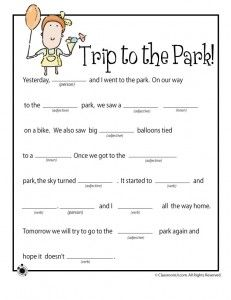 5 Images of Blank Printable Mad Libs Spring