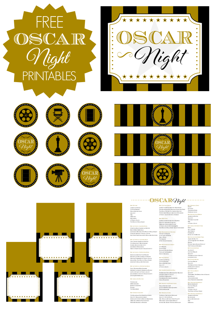 Oscar Party Printables