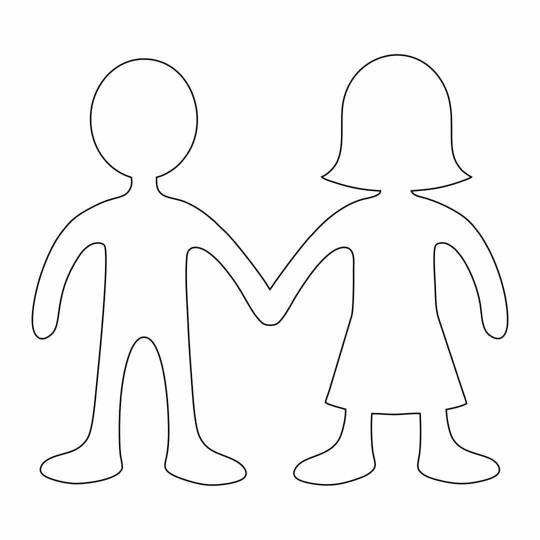 Paper Doll Chain Template Printable