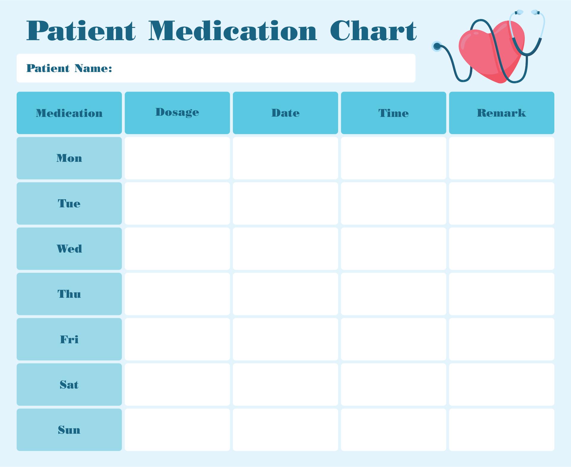 Fabulous Free Printable Medication Chart | Tristan Website