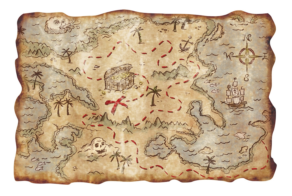 9 best images of printable pirate treasure map realistic