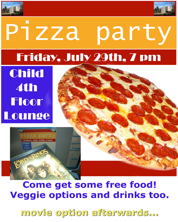 9 best images of free printable pizza party flyers