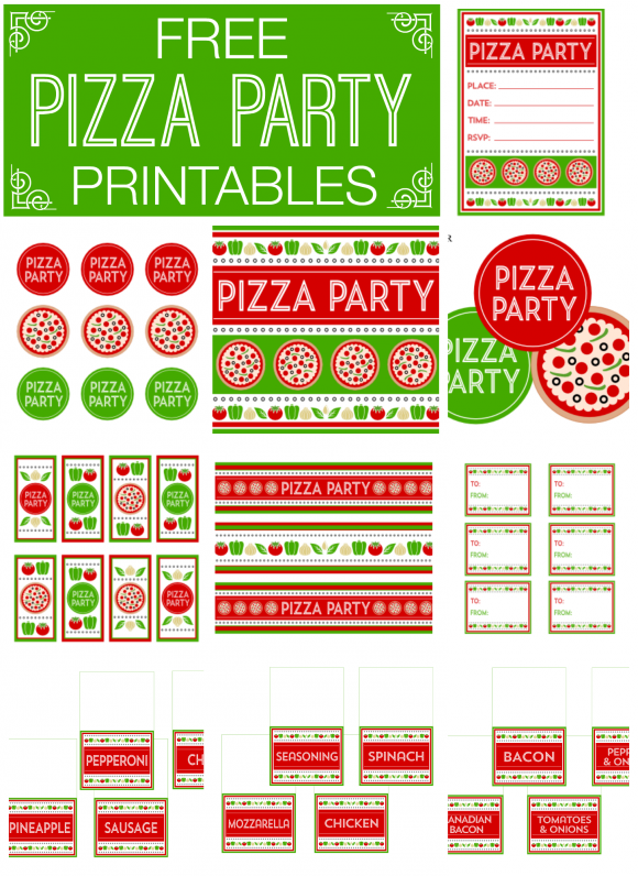 Pizza Party Free Printables