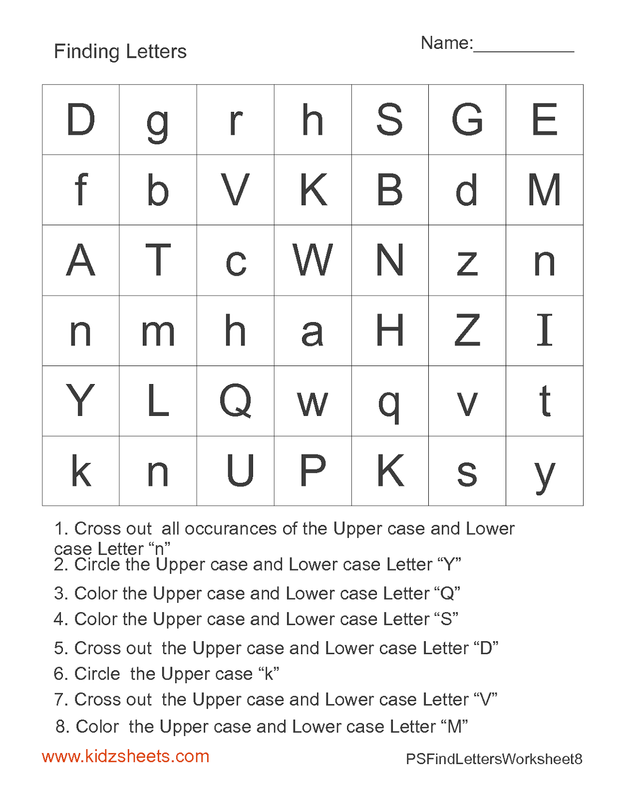 math worksheet : 7 best images of preschool work sheets alphabet printables  : Free Letter Worksheets For Kindergarten