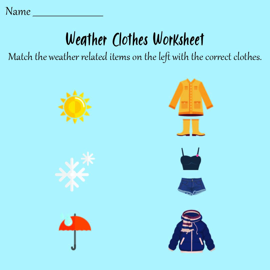 Preschool Printable Weather Worksheets