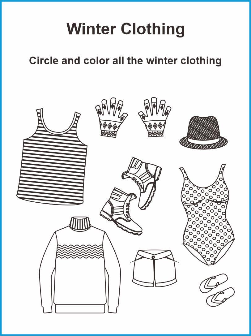 7 Best Clothing Printable Worksheets For Preschoolers ...