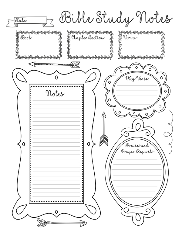 ... Printable Lined Note Pages and Printable Bible Study Note Sheets