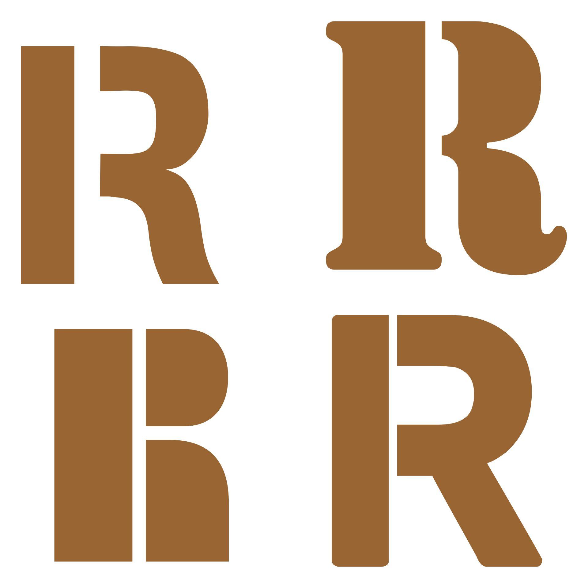 Printable Block Letter Stencils R