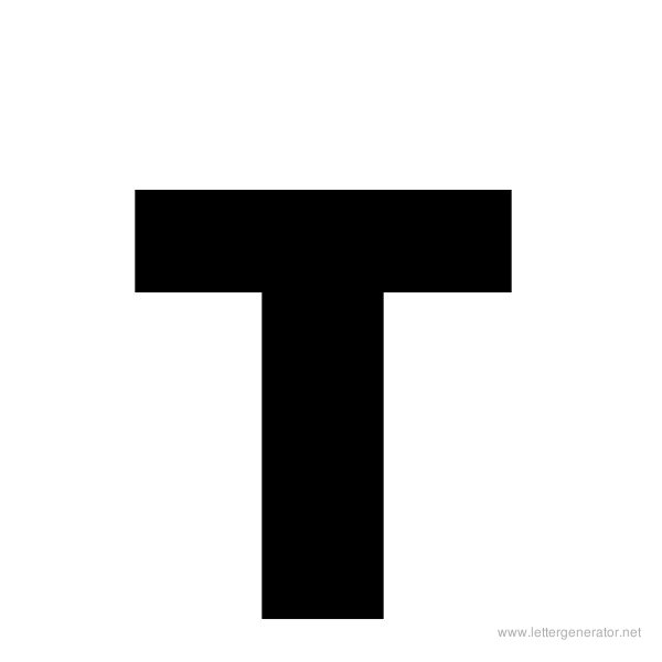 Printable Bold Alphabet Letter T