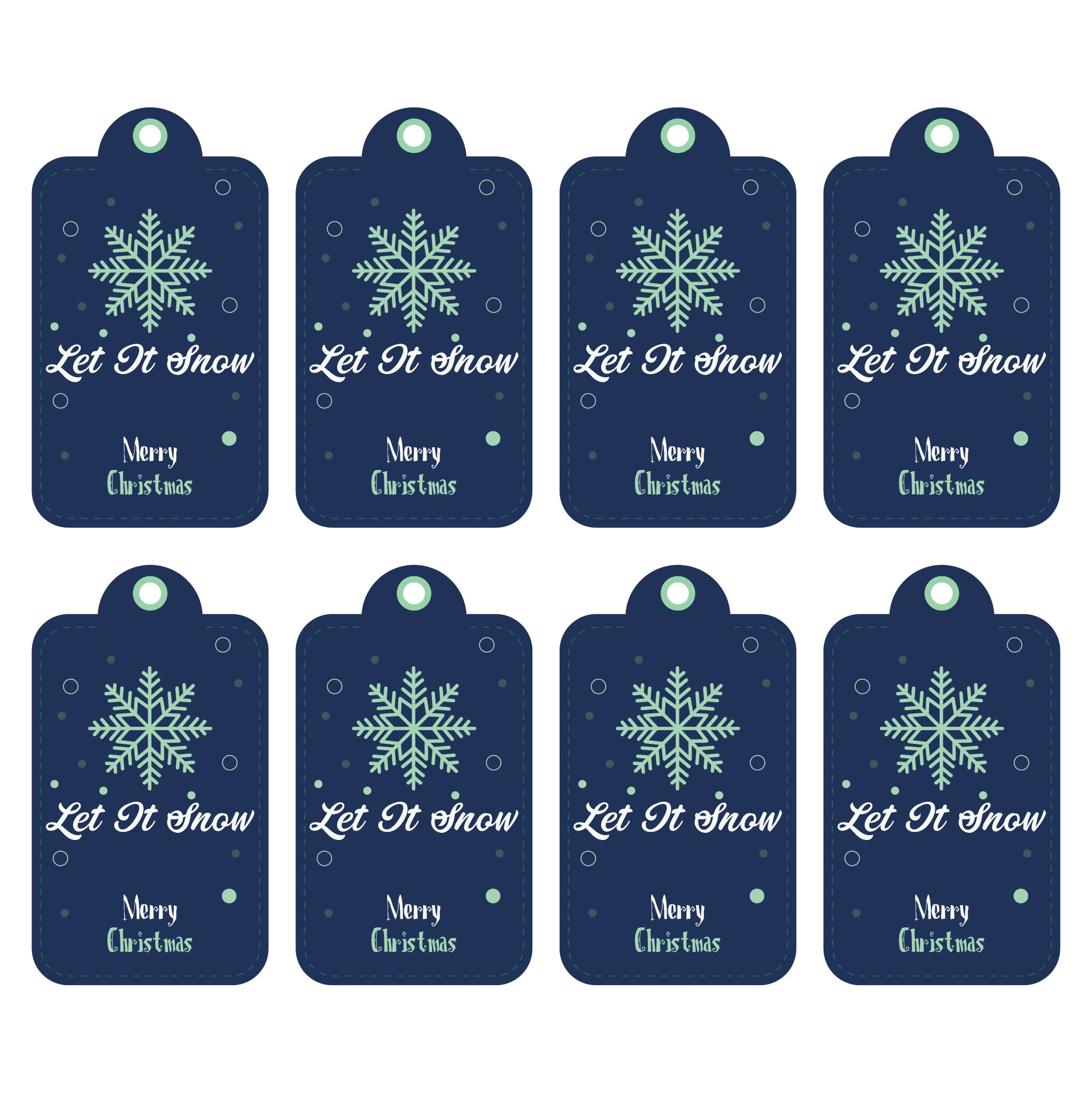 Printable Christmas Gift Tags Personalized