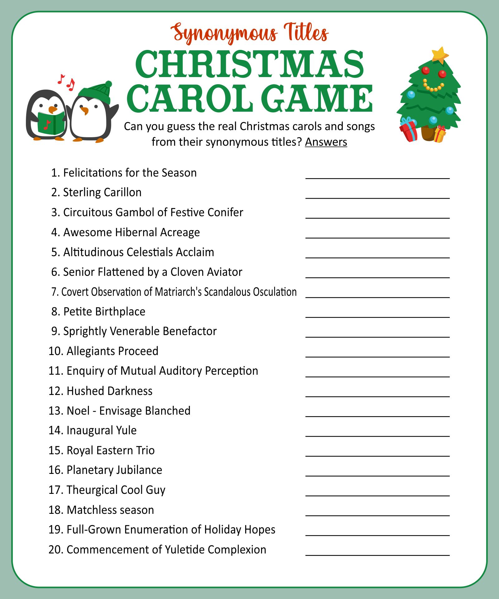 6 Best Printable Christmas Trivia Questions Printablee Com
