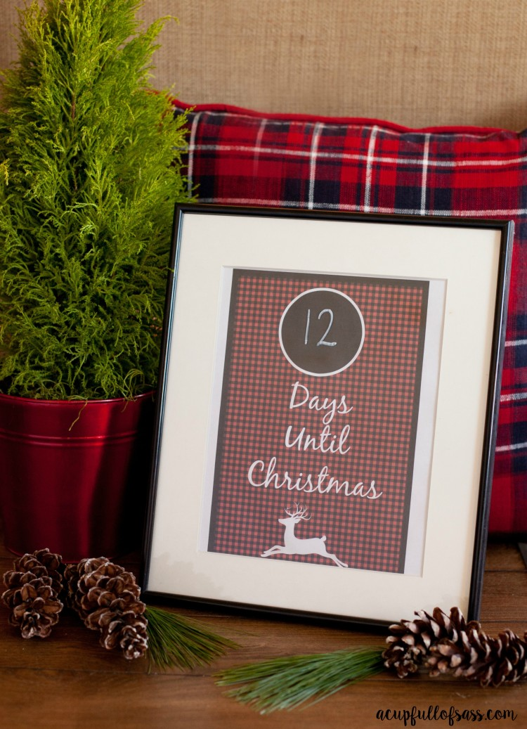 7 Images of Black And White Christmas Countdown Printable