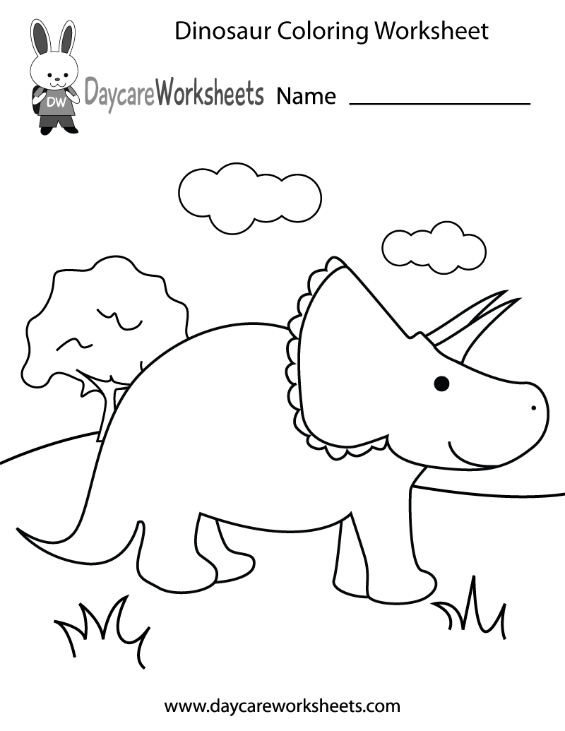 Printable Dinosaur Worksheets Preschool