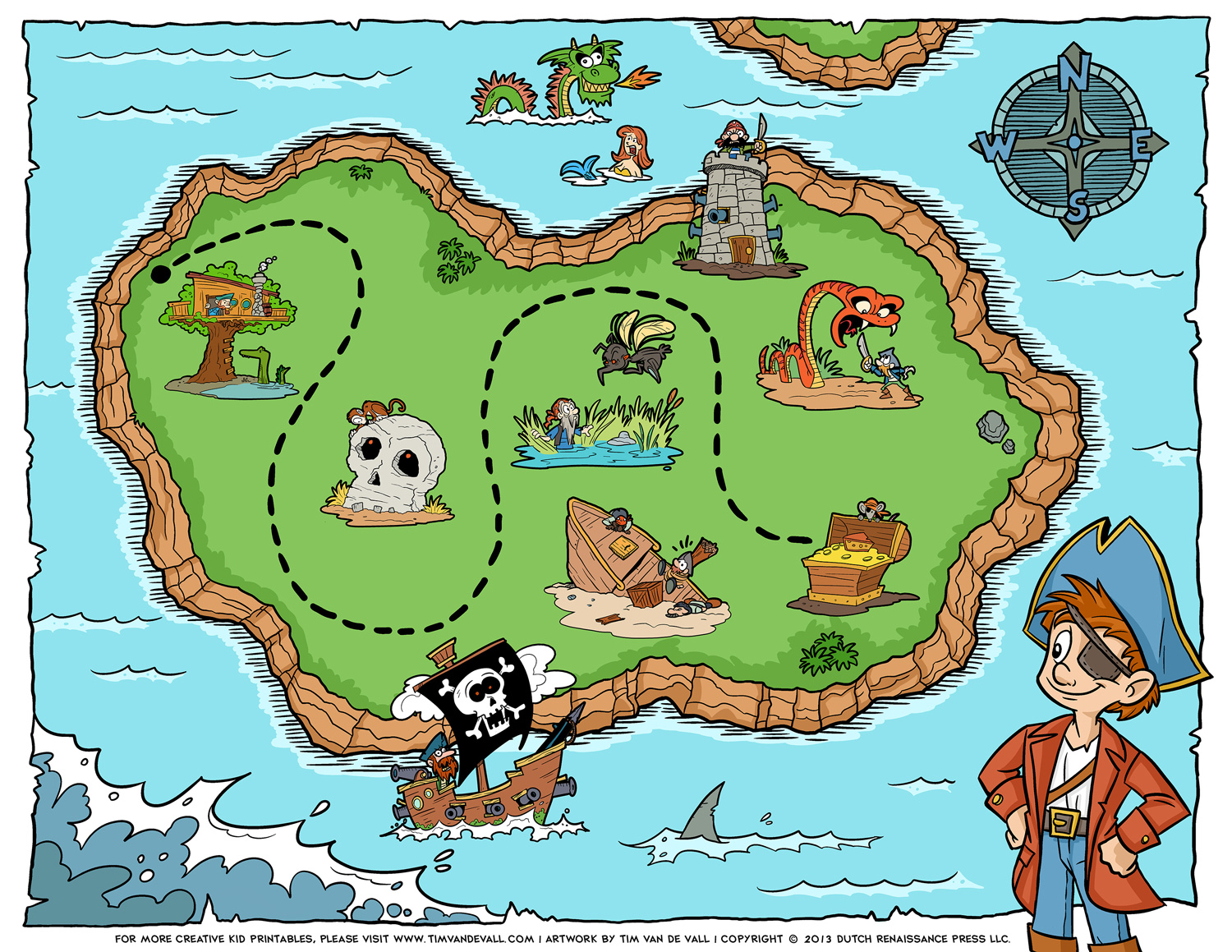 7 Images of Printable Pirate Map Template