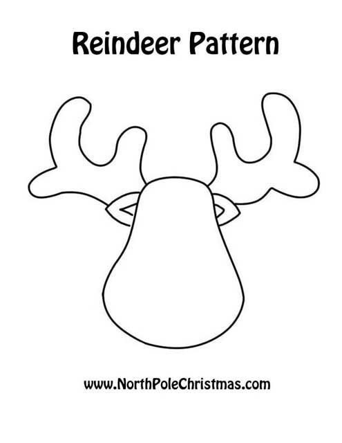 Best Images of Reindeer Head Template Printable - Free Reindeer ...