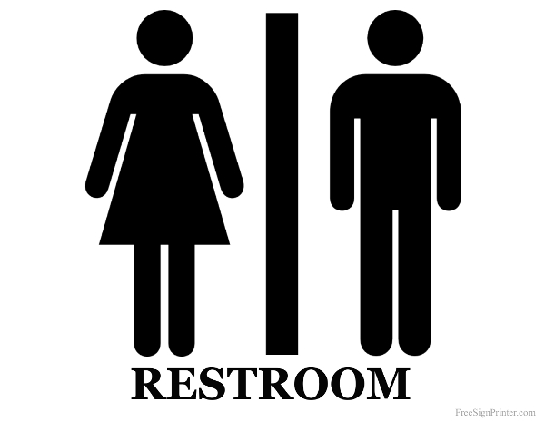 5 Images of Men's Restroom Sign Printable