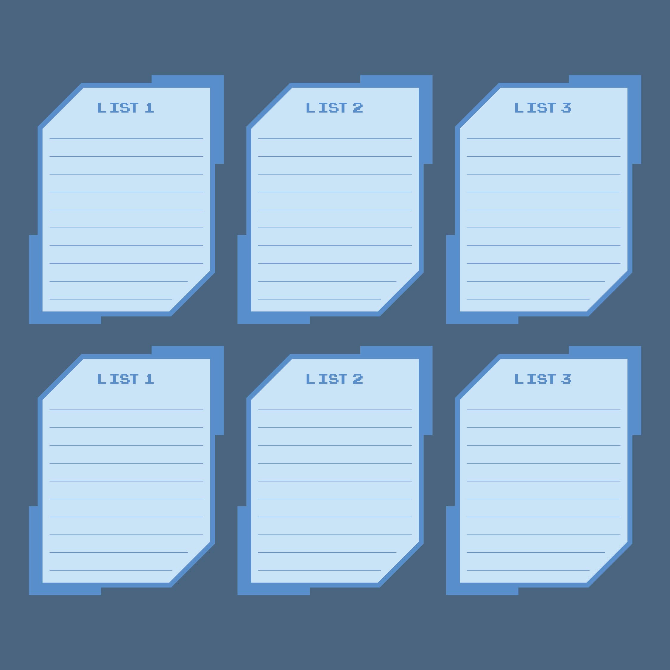 Printable Scattergories Lists 1