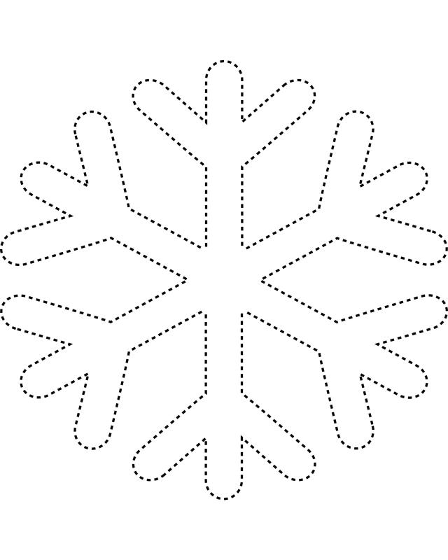 7 Images of Free Printable Snowflake Templates