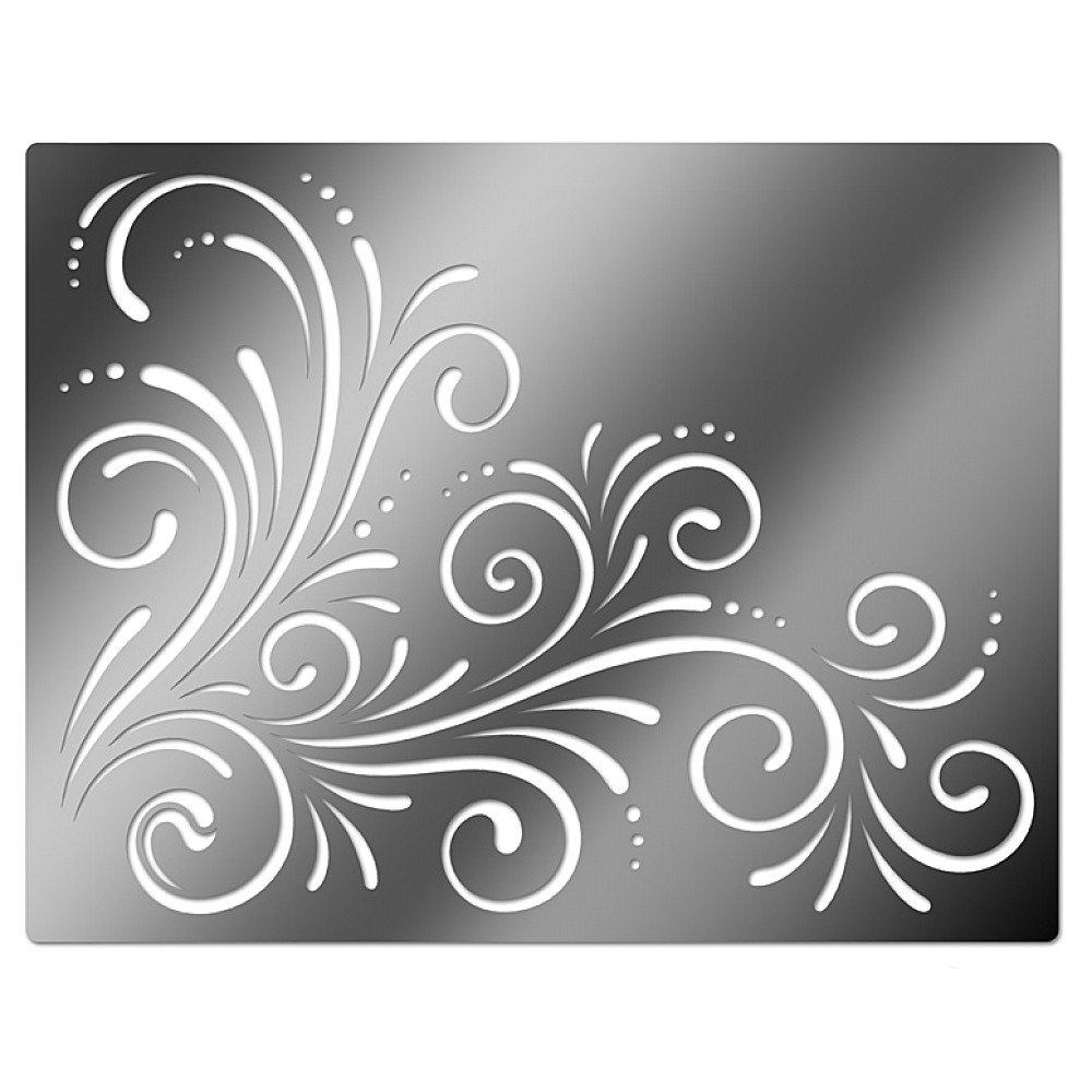 Simple Swirl Designs Stencils : Best images of printable large wall stencil designs