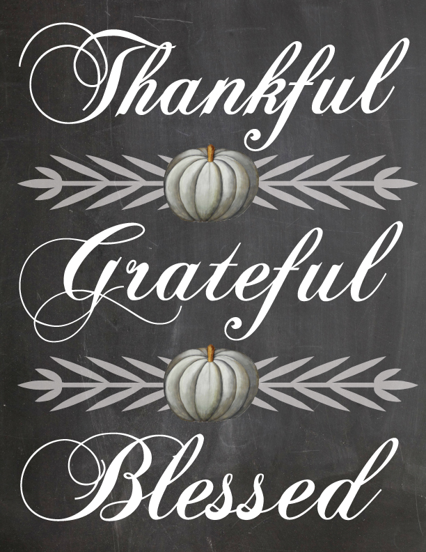 8 Images of Blessed Thanksgiving Fall Printable Free