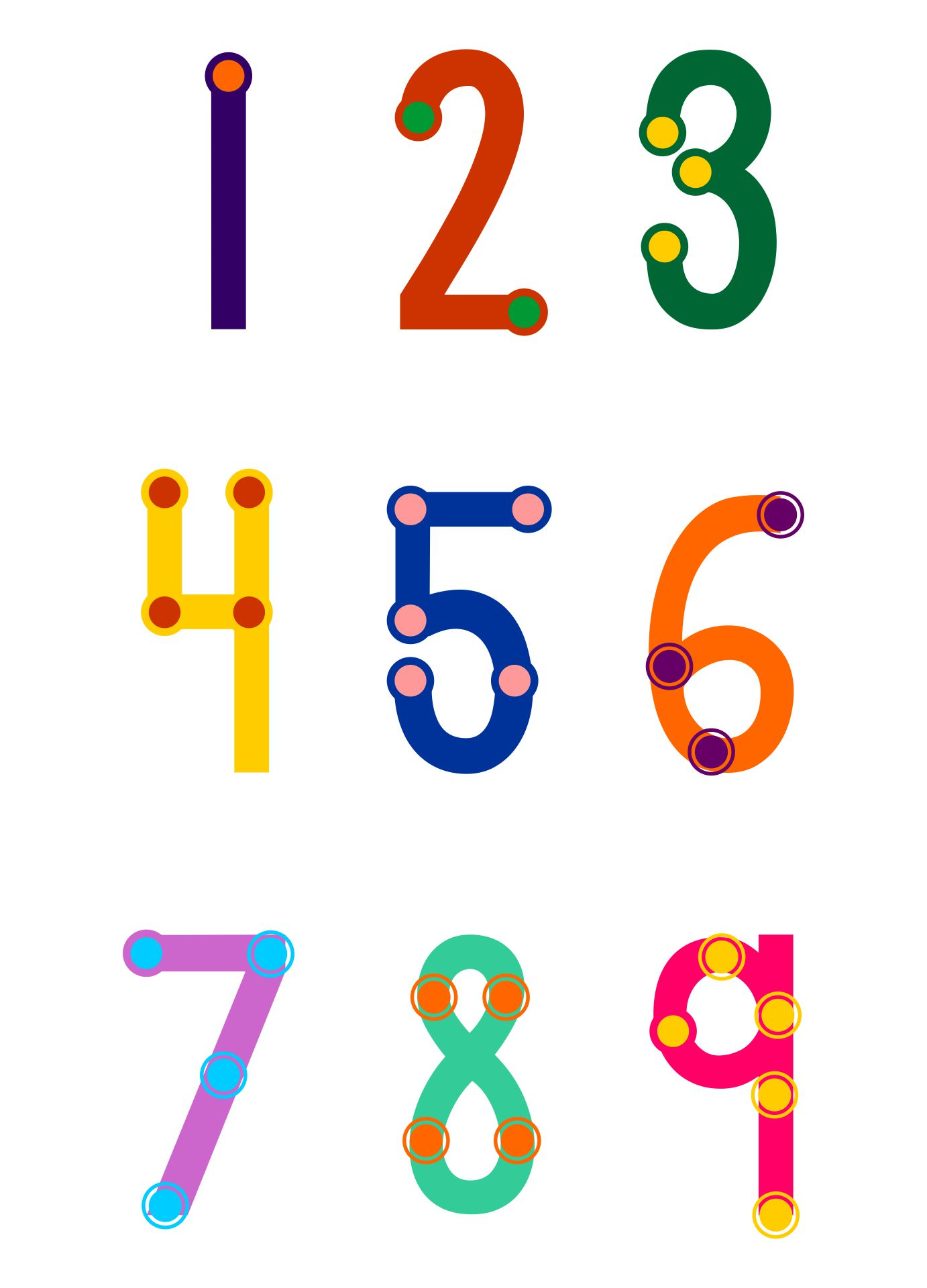 Printable TouchMath Numbers