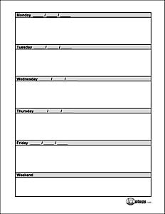 Homework calendars