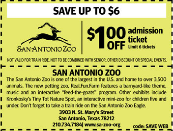 San Francisco Zoo Coupons Printable. 40% OFF. deal. 40% Off $85 Purchase. Printable discount coupons for San Francisco tourist attractions, restaurants, sightseeing tours, shopping and more! View Site Check Coupon DISCOUNT San Francisco Zoo Coupons & Discounts. San Francisco Zoo .