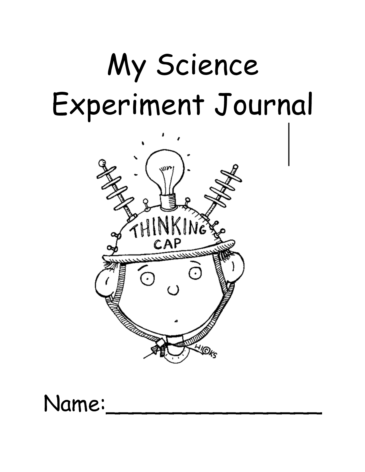 Science Fair Project Journal Template