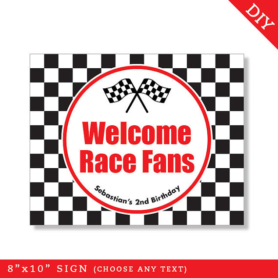 4 Images of Free Printable Race Car Party