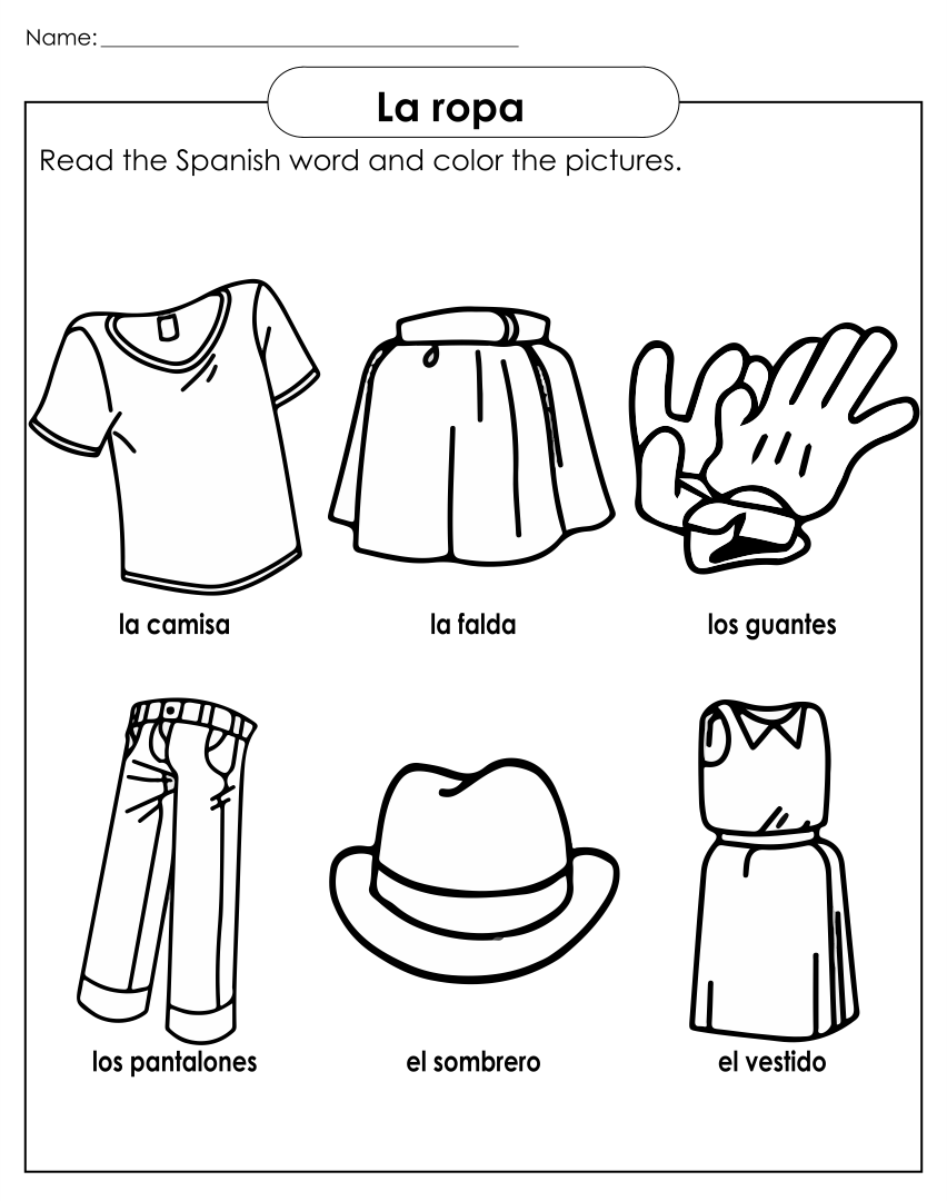 7 Images of Clothing Printable Worksheets For Preschoolers