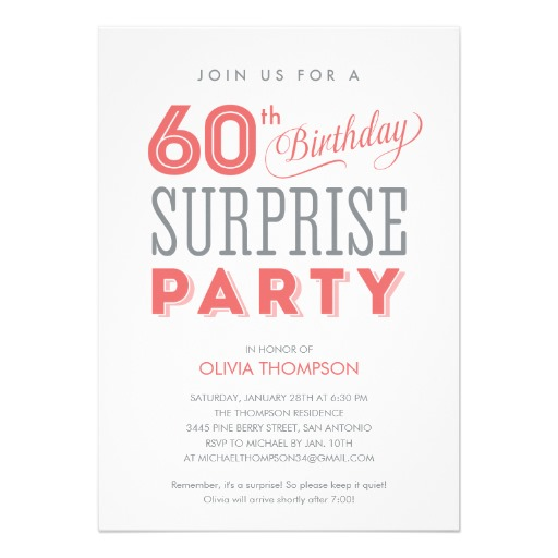 7 Images of Surprise 60th Birthday Invitations Printable