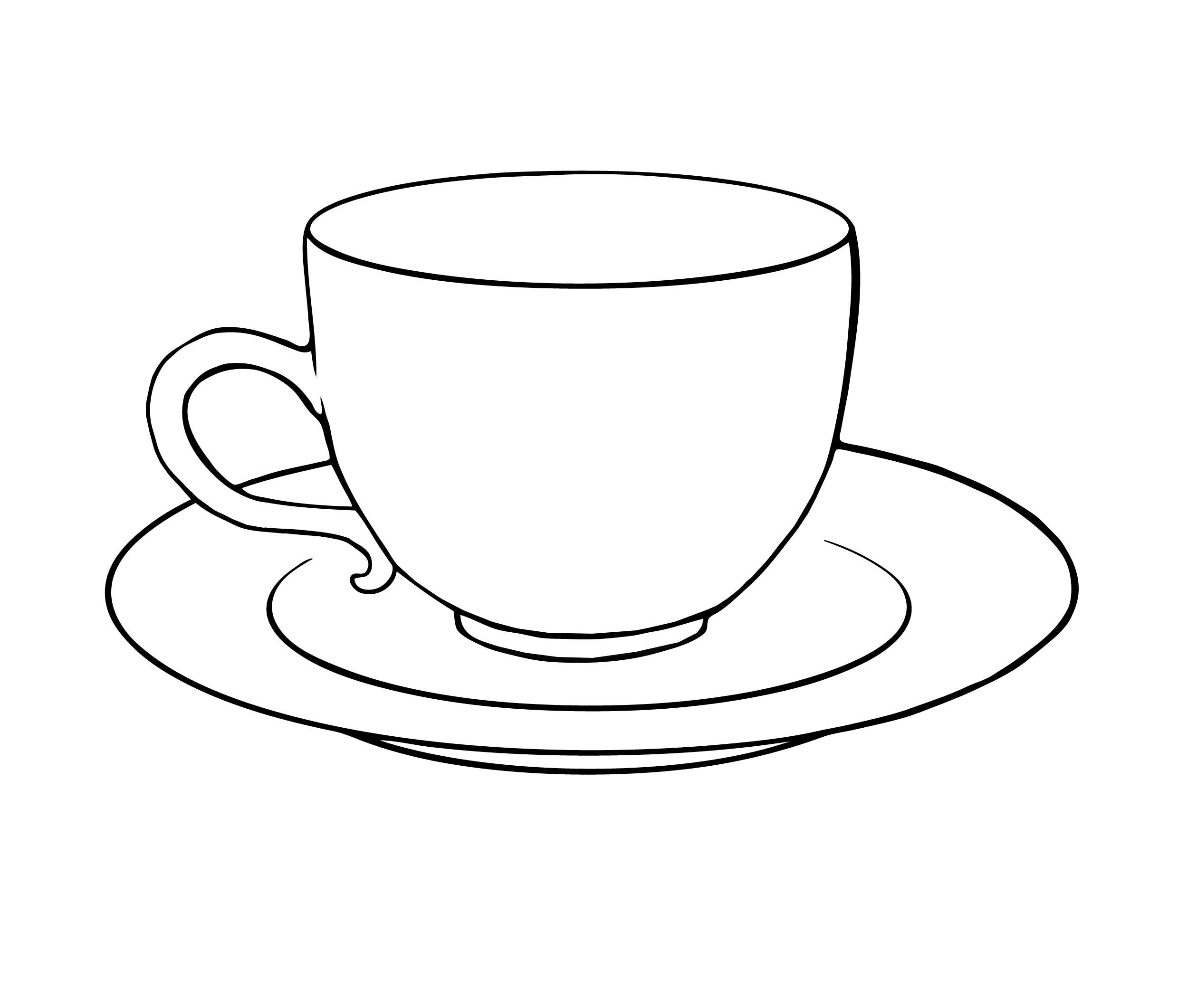 4 Images of Tea Cup Coloring Pages Printable