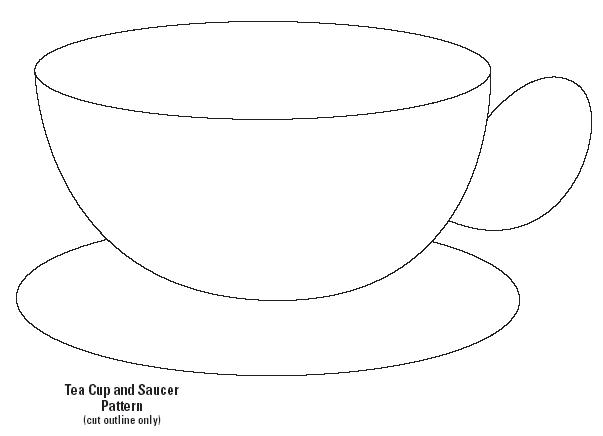 4 Images of Teacup Template Printable