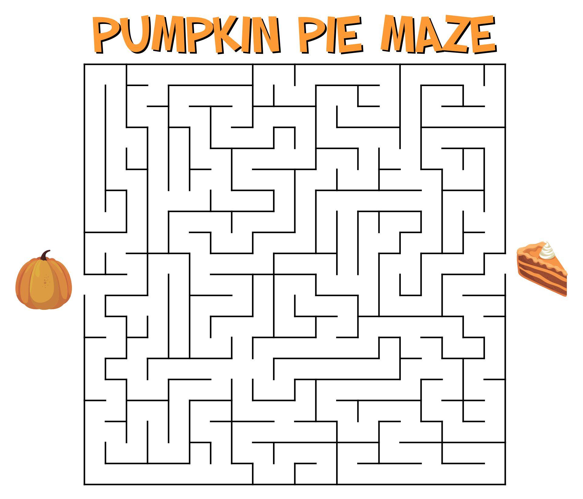 Thanksgiving Printable Mazes for Kids