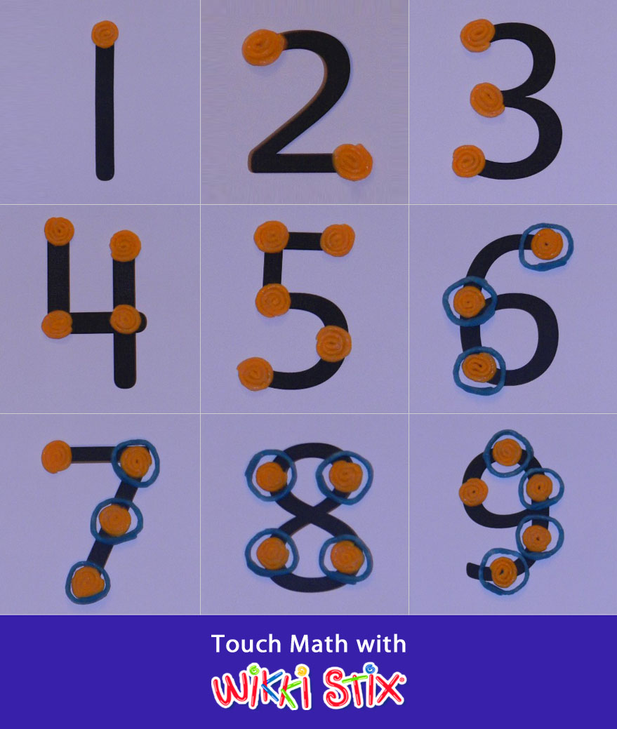 math worksheet : 5 best images of free printable math touch points  touchmath  : Touch Math Printable Worksheets