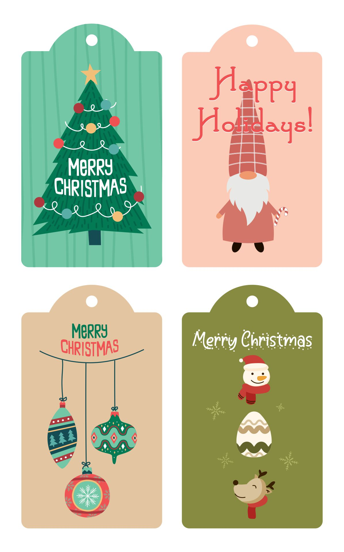 Unique Christmas Gift Tags Printable