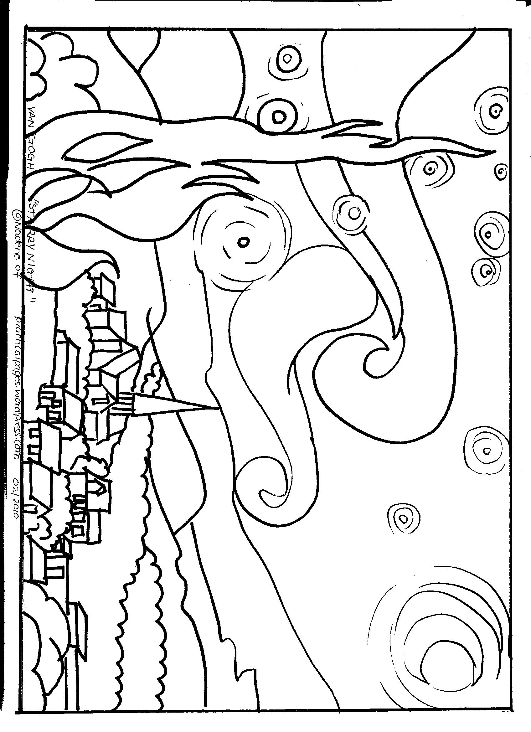 starry night coloring page - 4 best images of printable line art christmas poinsettia