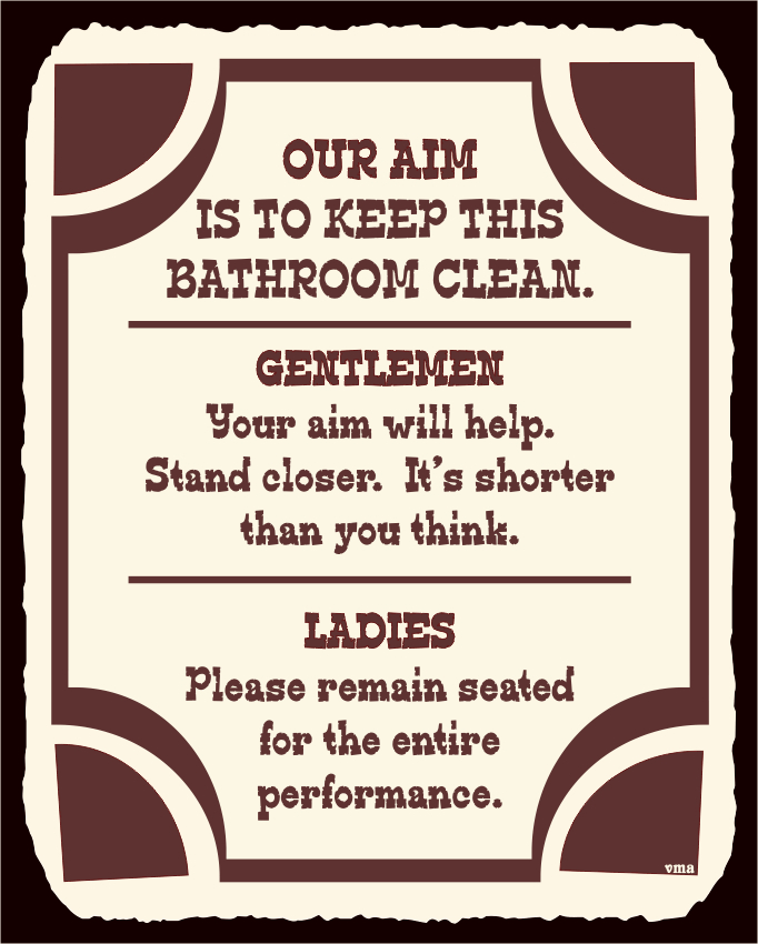 Funny Restroom Signs Printable