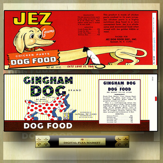 4 Images of Printable Vintage Food Can Labels