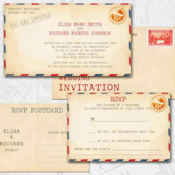 7 Images of Vintage Wedding Invitations DIY Printable Templates
